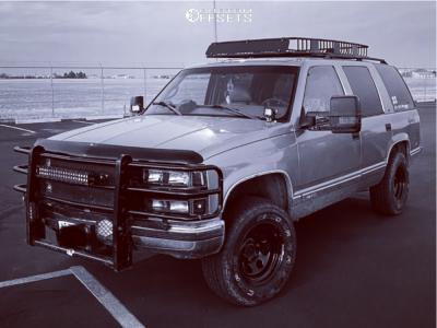 "1999 Chevrolet Tahoe - 16x8 -12mm - Vision Soft 8 - Stock Suspension - 32"" x 10.5"""