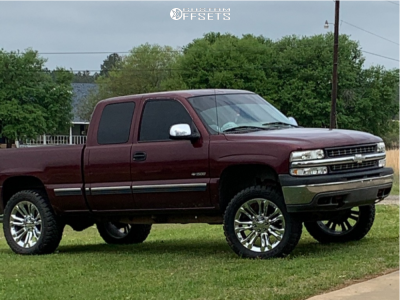 """2002 Chevrolet Silverado 1500 - 22x9 24mm - 4Play OE Wheels Cv43 - Body Lift 3"""" - 35"""" x 12.5"""""""