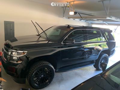 """2019 Chevrolet Tahoe - 22x9.5 10mm - Black Rhino Kruger - Suspension Lift 2.5"""" - 305/45R22"""