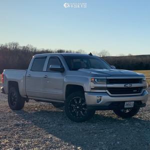 2017 Chevrolet Silverado 1500 - 20x9 -12mm - Ballistic Scythe - Leveling Kit - 285/55R20