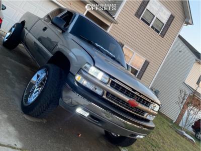 """2000 Chevrolet Silverado 1500 - 22x14 -81mm - ARKON OFF-ROAD Caesar - Suspension Lift 4.75"""" - 305/40R22"""