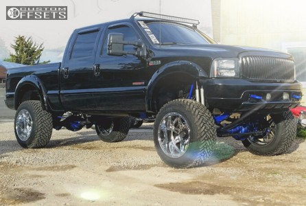 """2003 Ford F-250 - 22x14 -76mm - Fuel Hostage - Suspension Lift 8"""" - 37"""" x 13.5"""""""