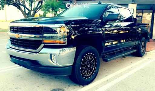 "2017 Chevrolet Silverado 1500 - 20x8 20mm - TIS 544bm - Suspension Lift 3"" - 285/60R20"
