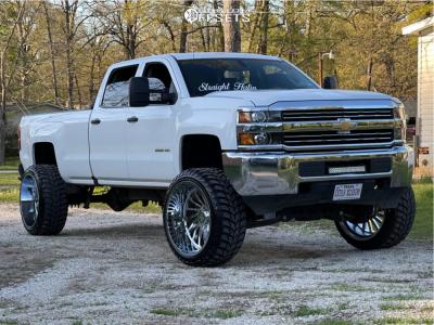 """2017 Chevrolet Silverado 2500 HD - 26x14 -81mm - ARKON OFF-ROAD Caesar - Suspension Lift 7.5"""" - 37"""" x 13.5"""""""