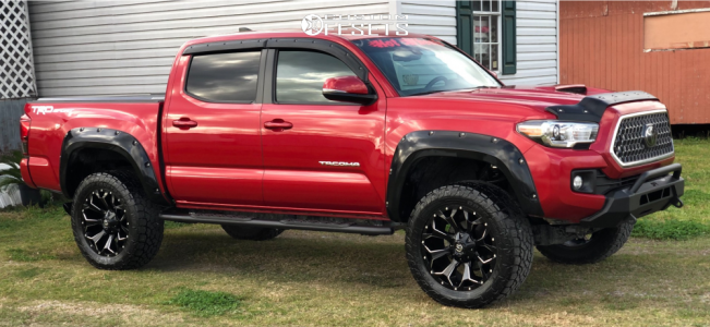 "2018 Toyota Tacoma - 20x9.5 0mm - Fuel Assault - Suspension Lift 3"" - 255/9.5R20"