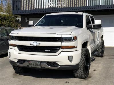 "2017 Chevrolet Silverado 1500 - 20x10 -25mm - TIS 544bm - Leveling Kit - 33"" x 12.5"""