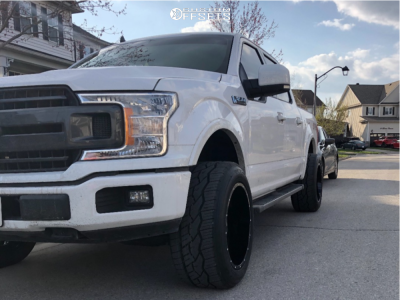 2019 Ford F-150 - 20x12 -44mm - Hardrock Crusher - Leveling Kit - 305/50R20