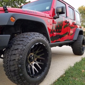 "2016 Jeep Wrangler - 20x12 -44mm - V-Rock Recoil - Suspension Lift 3.5"" - 35"" x 12.5"""