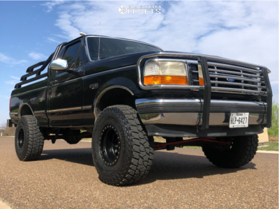 """1995 Ford F-150 - 15x10 -50mm - Method Double Standard - Suspension Lift 4"""" - 33"""" x 12.5"""""""