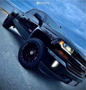 "2018 Chevrolet Silverado 1500 - 20x12 -44mm - Anthem Off-Road Equalizer - Leveling Kit - 33"" x 12.5"""