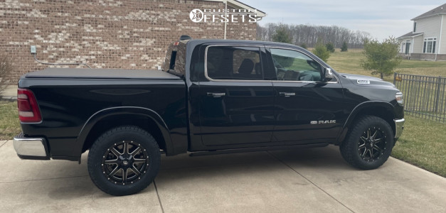 "2021 Ram 1500 - 20x9 1mm - Fuel Maverick - Suspension Lift 2.5"" - 295/60R20"