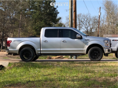 2015 Ford F-150 - 20x10 -24mm - G-fx Tr Mesh 4 - Leveling Kit - 305/50R20