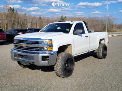 "2017 Chevrolet Silverado 2500 HD - 20x14 -76mm - XD Xd829 - Stock Suspension - 33"" x 12.5"""