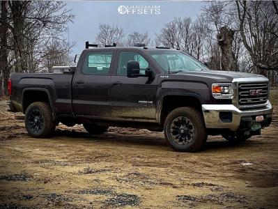 "2016 GMC Sierra 3500 HD - 18x10 -24mm - Fuel Vapor - Stock Suspension - 33"" x 12.5"""