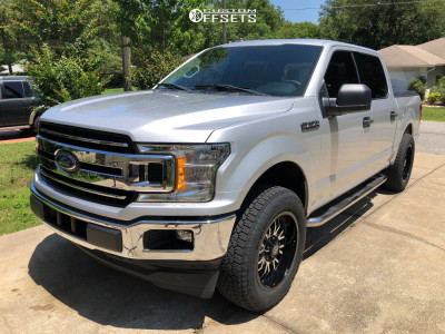 2018 Ford F-150 - 20x9 -12mm - Panther Offroad 580 - Leveling Kit - 275/60R20