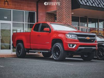 """2016 Chevrolet Colorado - 17x9 0mm - Black Rhino Bullhead - Suspension Lift 3"""" - 265/70R17"""