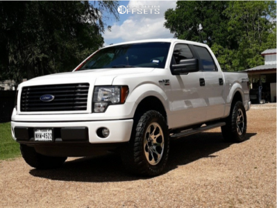 "2014 Ford F-150 - 20x9 18mm - American Outlaw Ranger - Leveling Kit - 35"" x 12.5"""