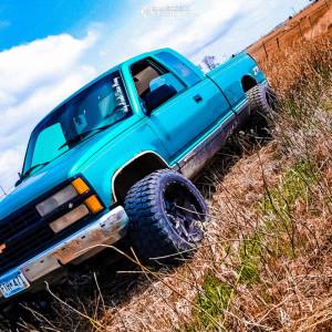"1993 Chevrolet K1500 - 20x12 -57mm - Vision Spyder - Stock Suspension - 33"" x 12.5"""