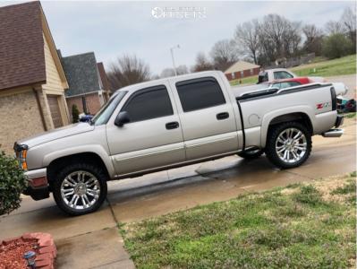 "2007 Chevrolet Silverado 1500 Classic - 22x9 27mm - 4Play OE Wheels Split 7s - Stock Suspension - 33"" x 12.5"""