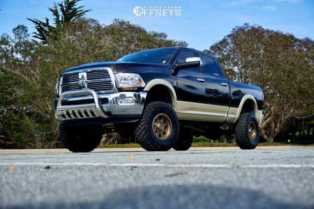 "2011 Ram 2500 - 17x9 -12mm - Anthem Off-Road Rogue - Suspension Lift 5"" - 35"" x 12.5"""