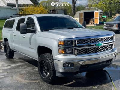 2014 Chevrolet Silverado 1500 - 20x10 -25mm - ARKON OFF-ROAD Caesar - Leveling Kit - 275/55R20