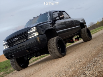 """2005 Chevrolet Silverado 2500 HD - 22x14 -76mm - Tis 544bm - Suspension Lift 6"""" - 33"""" x 14.5"""""""