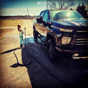 2021 Chevrolet Silverado 3500 HD - 20x9 20mm - Fuel Triton - Stock Suspension - 275/65R20