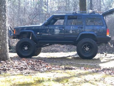 "2000 Jeep Cherokee - 15x10 0mm - Cragar Soft 8 - Suspension Lift 8.5"" - 35"" x 10.5"""