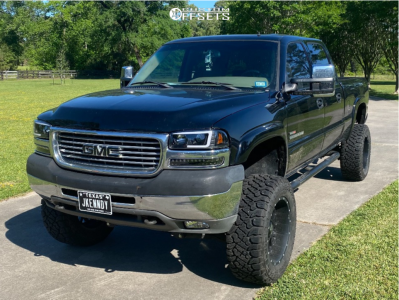 "2002 GMC Sierra 2500 HD - 20x10 -24mm - XD Xd820 - Suspension Lift 6"" - 35"" x 12.5"""