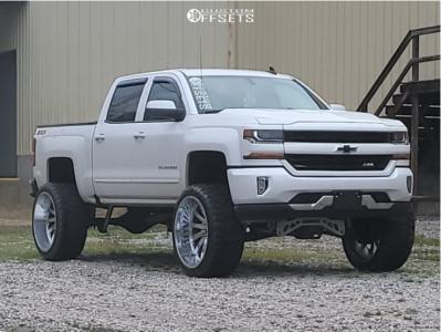 "2018 Chevrolet Silverado 1500 - 26x14 -76mm - Hardcore Offroad Hc15 - Suspension Lift 9"" - 37"" x 14.5"""