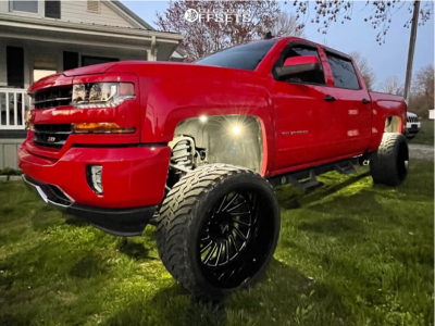 "2016 Chevrolet 1500 - 24x14 81mm - ARKON OFF-ROAD Caesar - Suspension Lift 9"" - 35"" x 13.5"""