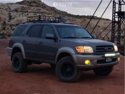 "2003 Toyota Sequoia - 16x8 0mm - American Racing Ar172 - Suspension Lift 3"" - 285/75R16"