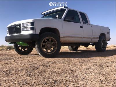 1996 Chevrolet K1500 - 20x10 -18mm - Anthem Off-Road Rogue - Stock Suspension - 285/55R20