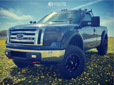 "2010 Ford F-150 - 17x10 -24mm - Moto Metal Mo962 - Suspension Lift 3"" - 35"" x 12.5"""
