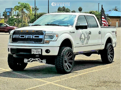 "2013 Ford F-150 - 22x10 -34mm - Fuel Contra - Suspension Lift 6"" - 35"" x 25"""