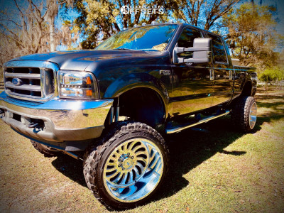 """2003 Ford F-250 - 24x16 1.33E+17mm - American Force Octane Ss - Suspension Lift 10"""" - 37"""" x 13.5"""""""