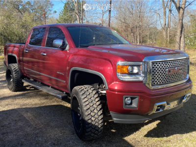 "2014 GMC Sierra 1500 - 22x12 -44mm - Fuel Maverick - Suspension Lift 6"" - 35"" x 12.5"""