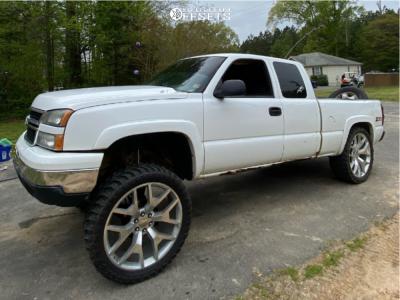 "2007 Chevrolet Silverado 1500 Classic - 26x10 31mm - Factory Reproduction Gmc Flakes - Suspension Lift 9"" - 37"" x 13.5"""