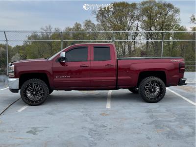 "2017 Chevrolet Silverado 1500 - 22x12 -44mm - Pure Grit Drive - Leveling Kit - 33"" x 12.5"""