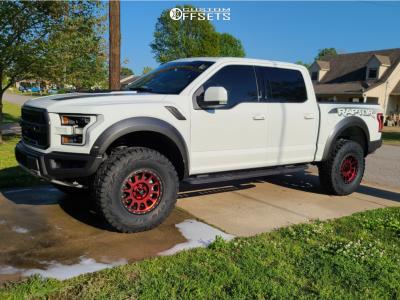 "2018 Ford Raptor - 18x9 18mm - Method Mr305 - Suspension Lift 3"" - 37"" x 12.5"""