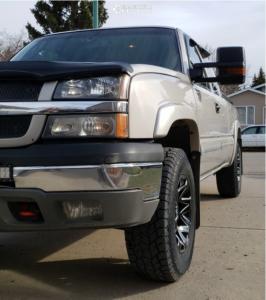 "2004 Chevrolet Silverado 1500 - 17x9.5 0mm - Chevy Rally - Suspension Lift 2.5"" - 275/70R17"