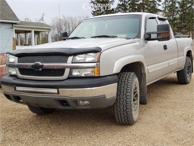 "2004 Chevrolet Silverado 1500 - 17x10 0mm - Chevy Rally - Suspension Lift 2.5"" - 275/70R17"