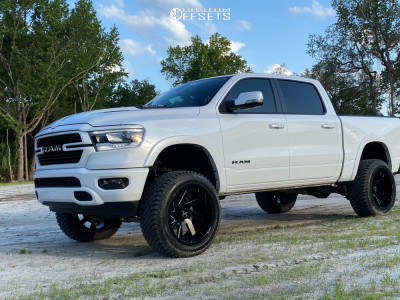"2019 Ram 1500 - 22x12 -51mm - ARKON OFF-ROAD Lincoln - Suspension Lift 6"" - 325/50R22"