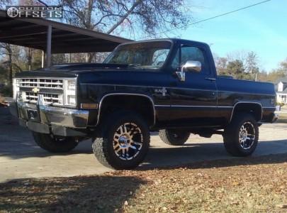 "1987 Chevrolet Blazer - 18x9 -12mm - American Eagle 79 - Body Lift 3"" - 285/65R18"
