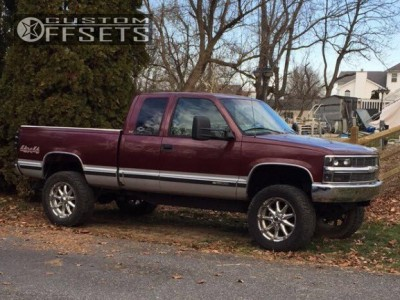 """1997 Chevrolet K1500 - 20x9 -12mm - Xd Badlands - Leveling Kit & Body Lift - 35"""" x 12.5"""""""