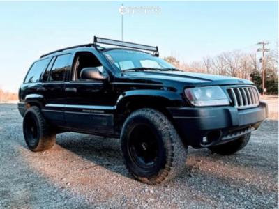 "2004 Jeep Grand Cherokee - 20x12 -0mm - American Force Aero Sf - Stock Suspension - 33"" x 12.5"""