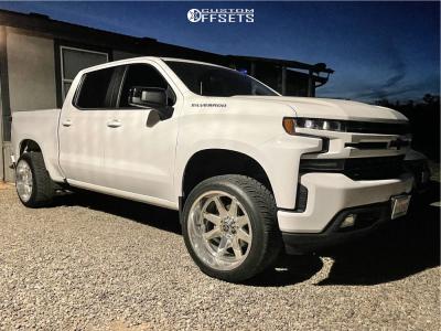 2019 Chevrolet Silverado 1500 - 22x12 -44mm - TIS WHEELS 551P - Leveling Kit - 305/40R22