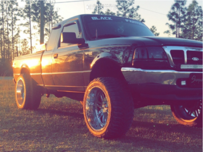 """2000 Ford Ranger - 22x12 -41mm - XF Forged Xfx-303 - Suspension Lift 8.5"""" - 33"""" x 12.5"""""""