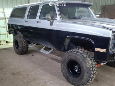 "1985 Chevrolet K10 Suburban - 15x12 -63mm - Black Rock Type 8 997b - Suspension Lift 6.5"" - 35"" x 14.5"""