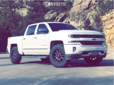 "2018 Chevrolet Silverado 1500 - 20x9 1mm - Fuel Vandal - Leveling Kit - 32"" x 10.5"""